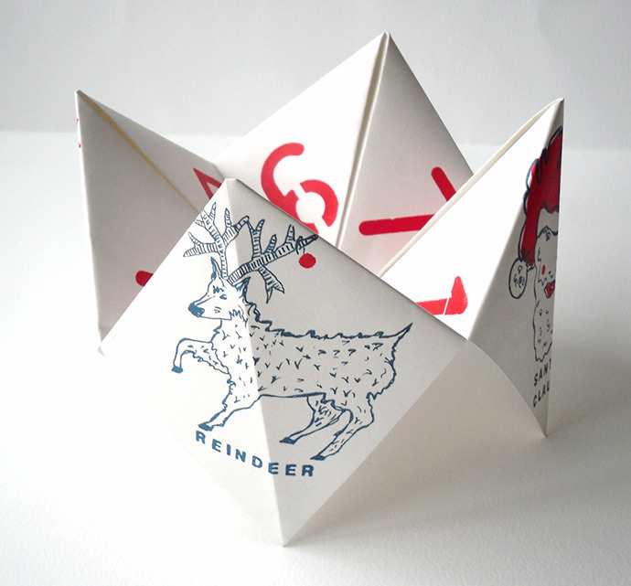Giant Christmas Fortune Teller by Box Room Press on Etsy