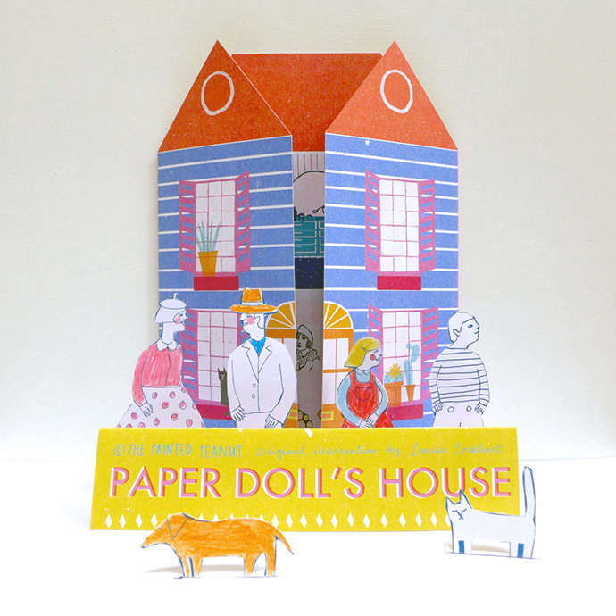 60's-inspired doll's house from The Printed Peanut