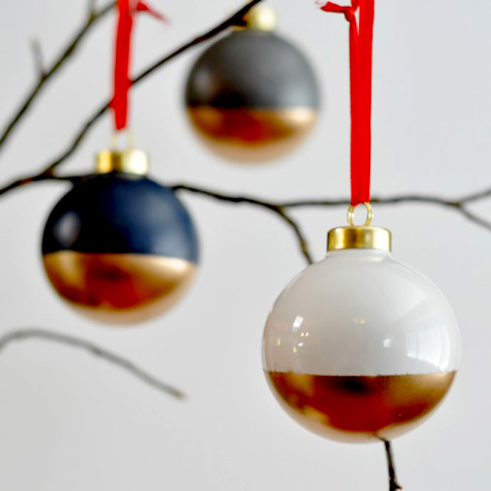 gold dipped ornaments suburblecom_ 531x800