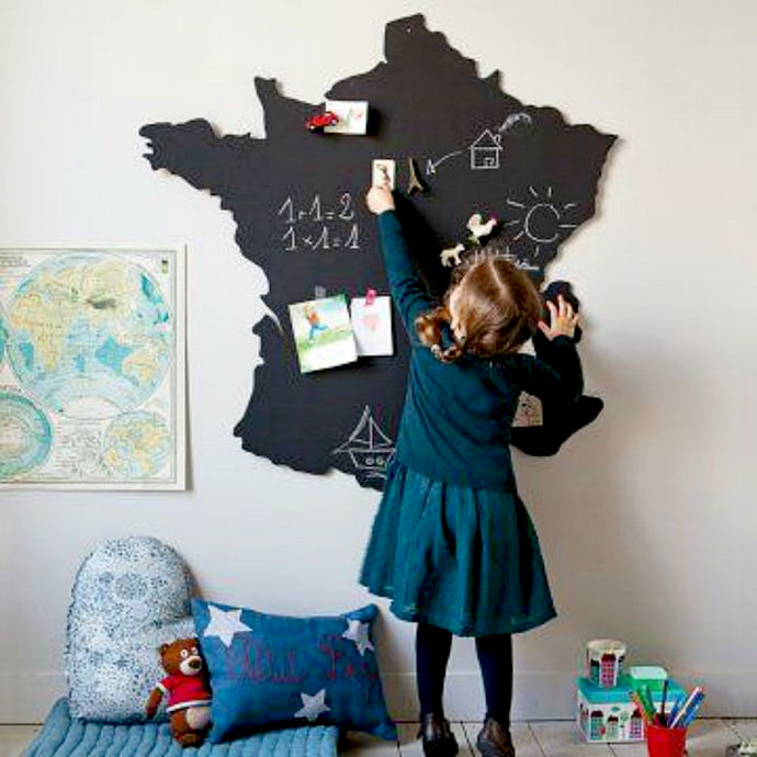 Love-this-Chalkboard-Map-of-France!