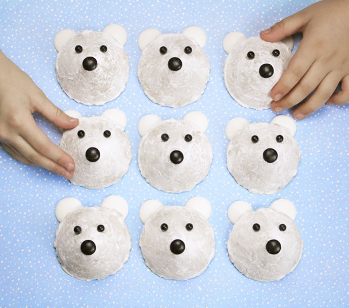 Easy No-Bake Polar Bear Cookies For Kids ⋆ Handmade Charlotte