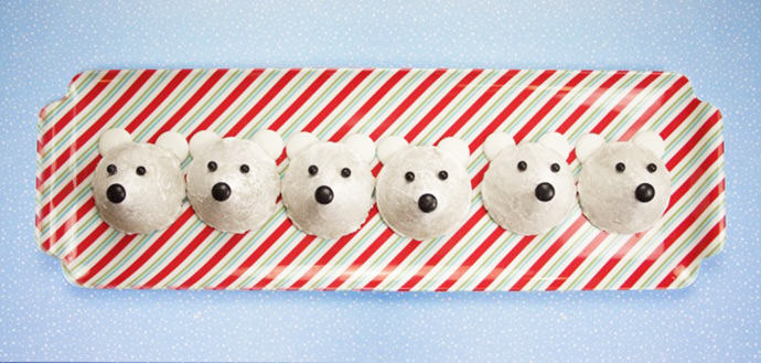 Easy No-Bake Polar Bear Cookies