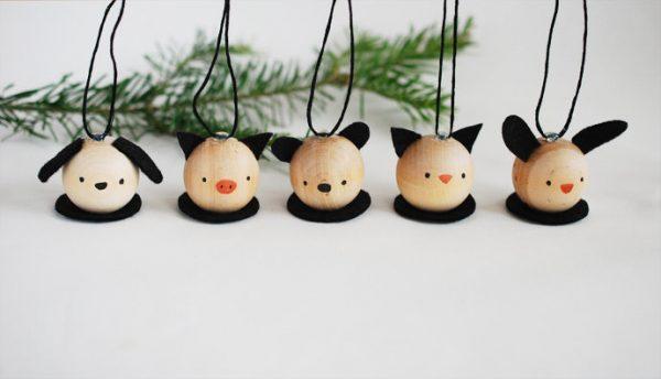 DIY Wooden Critter Ornaments