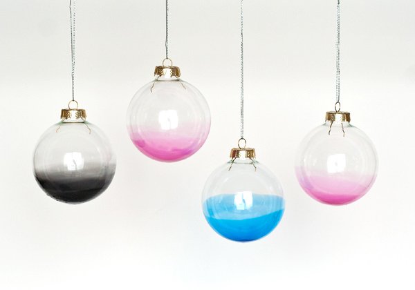 DIY Ombre Ornaments via Ambrosia Girl