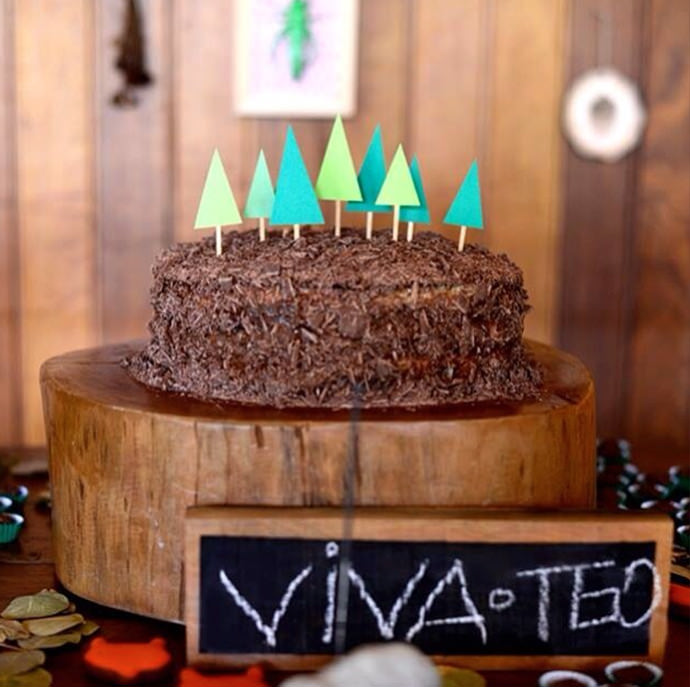 Woodland Party Cake by Estefi Machado