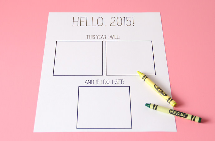 New Year's Resolutions Printable for Kids
