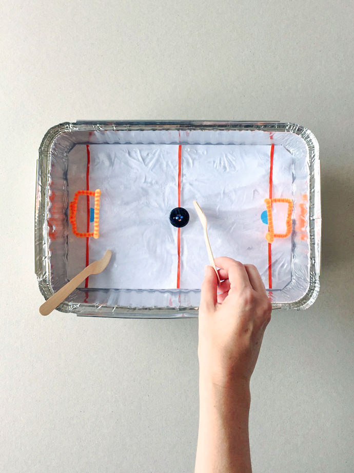 DIY Tabletop Ice Hockey Rink ⋆ Handmade Charlotte