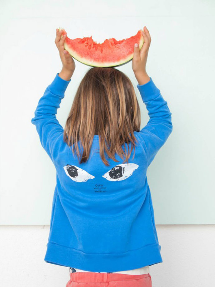 Cute Funny Faced Kids Sweatshirt for Boys and Girls