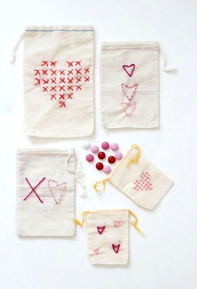 Easy Stitched Valentine's Day Treat Bag