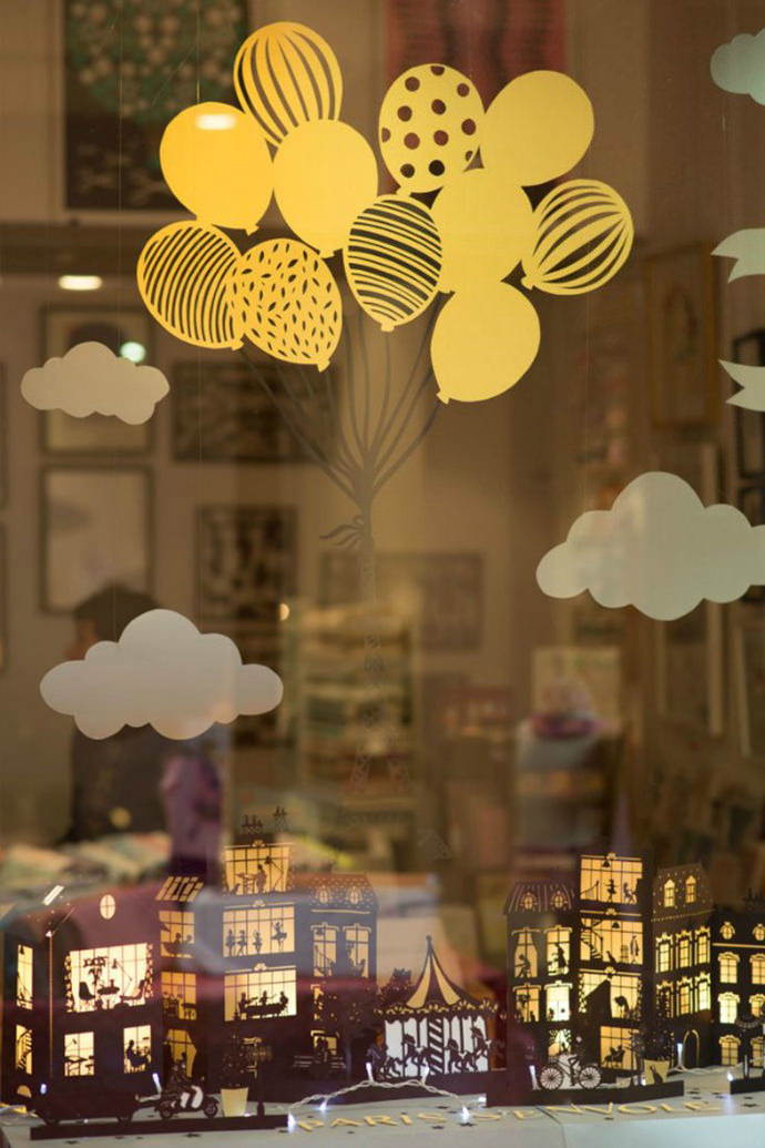 Inspiring Parisian papercut window display