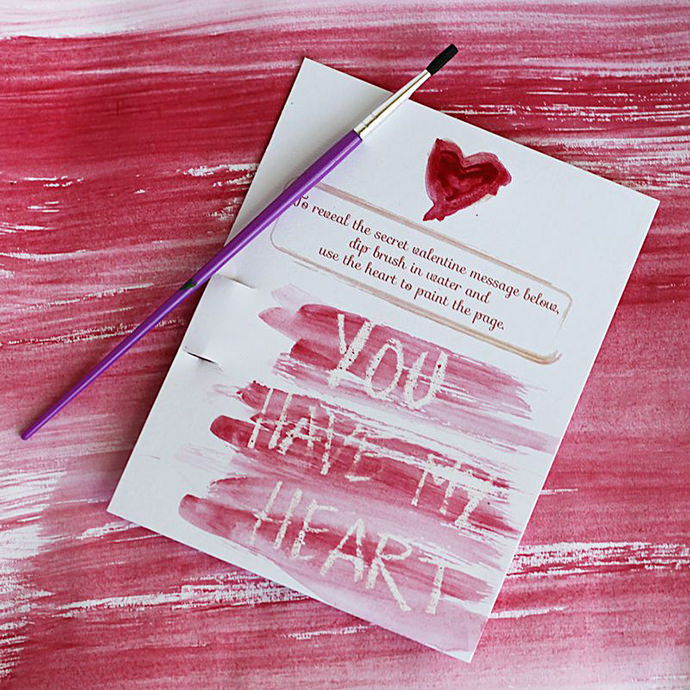 DIY Secret Message Valentines