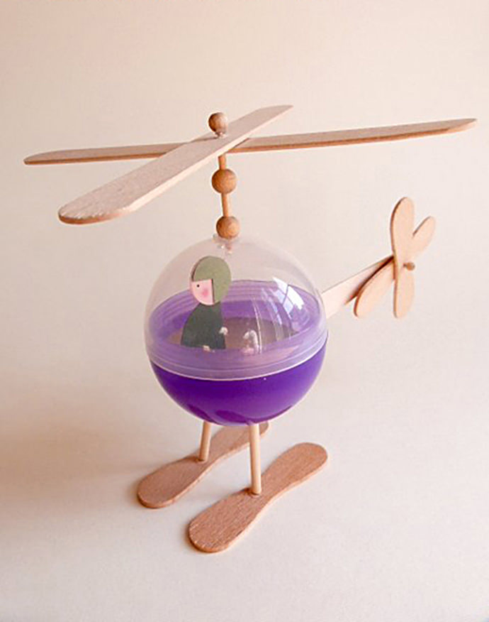 DIY Recycled Helicopter Toy for Kids