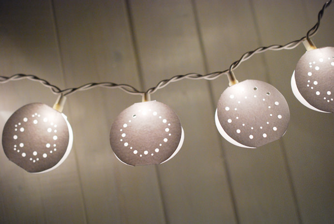DIY Punched Fairy Hanging Lights