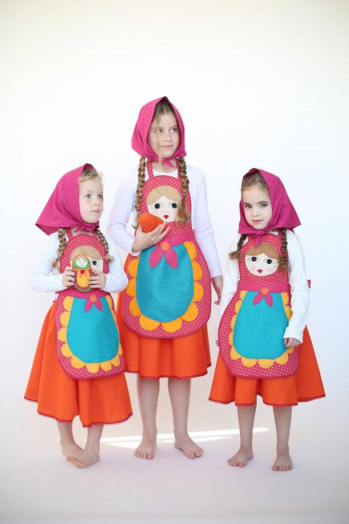 Three Pretty Babushkas Group Costume