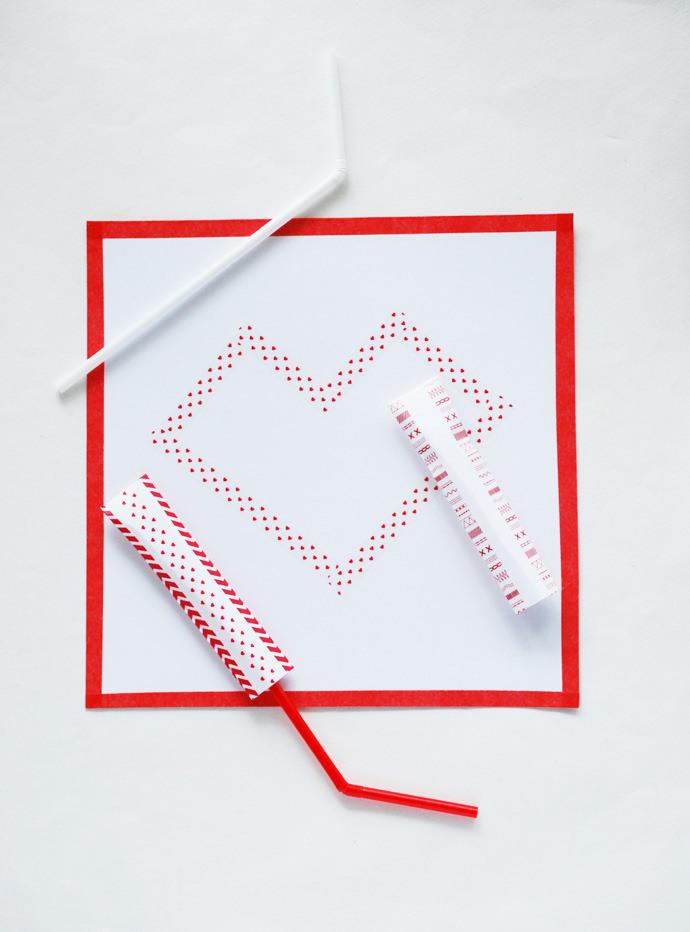 DIY Valentine's Day Straw Launchers