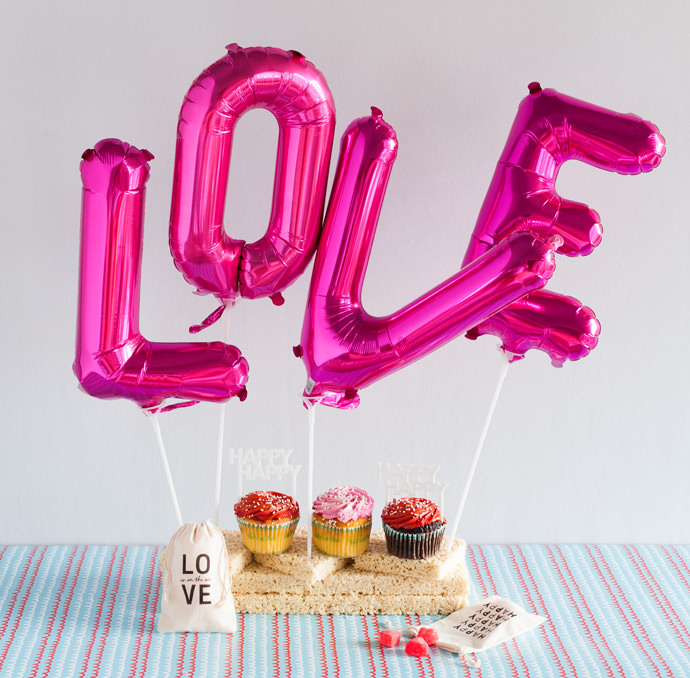 Valentine's Day Love Balloons from Red Stamp