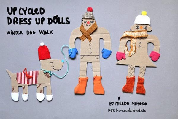 DIY Upcycled Cardboard Dress Up Dolls