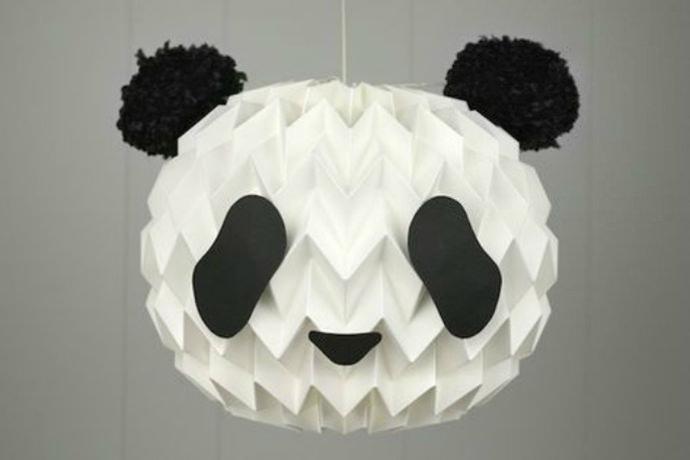 DIY Hanging Panda Lampshade