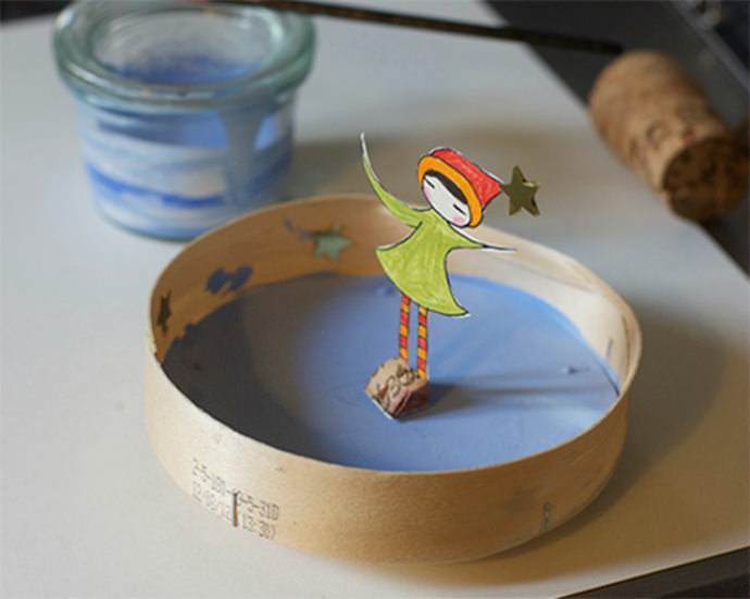 Easy DIY Paper Ice Skating Craft for Kids
