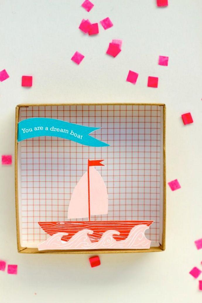 DIY Dreamboat Pop-Up Valentine's Box