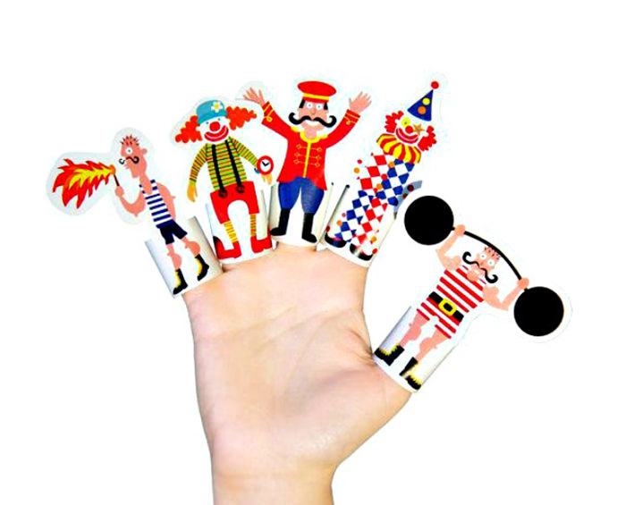 Circus finger puppet printables