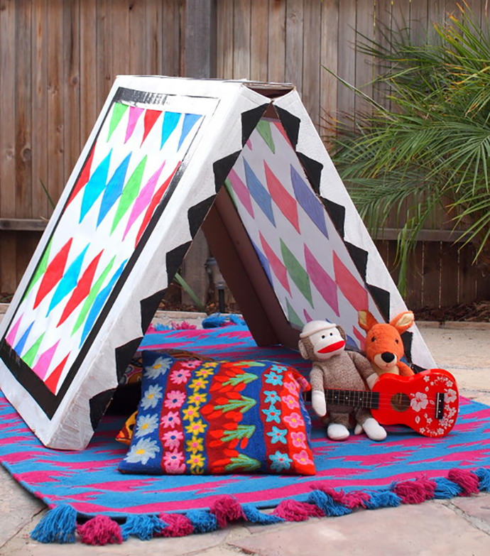 & Build Your Own Collapsible Cardboard Tent | Handmade Charlotte