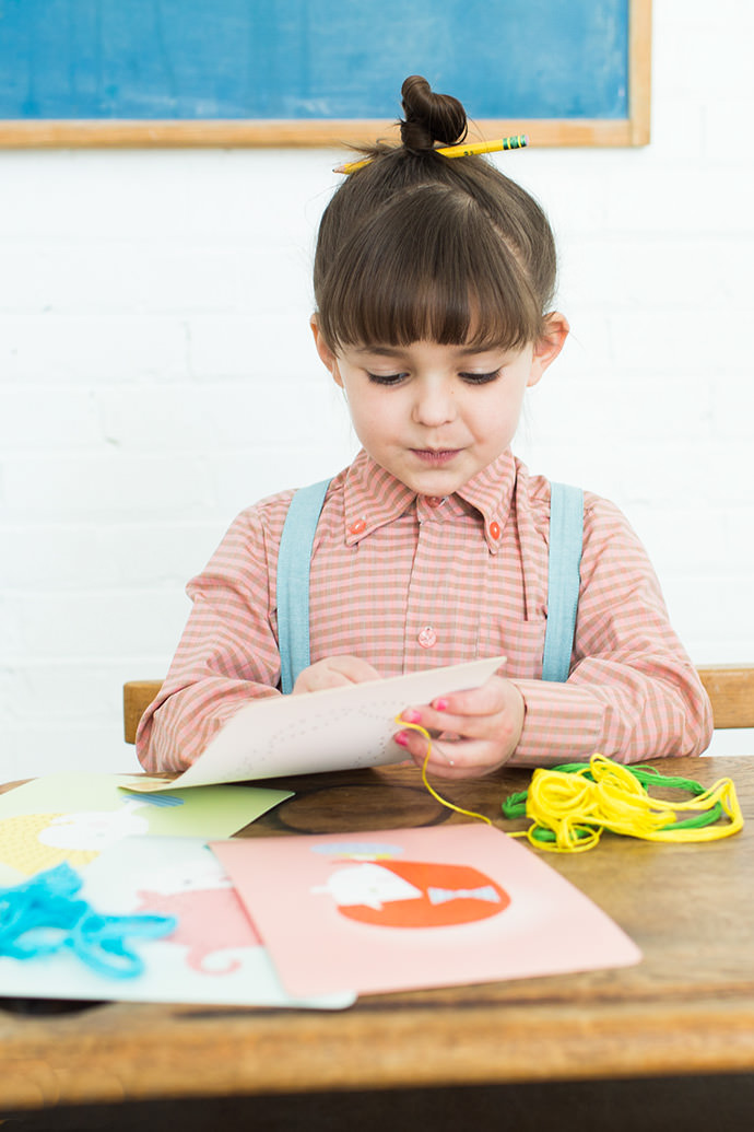 Teach Your Child To Sew With Hairstyle Lacing Cards
