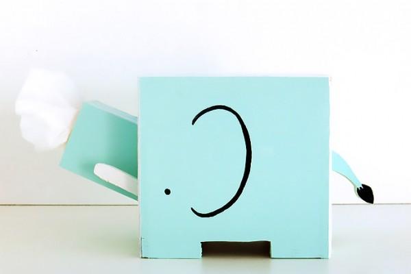 Elephant Tissue Holder via Etsy