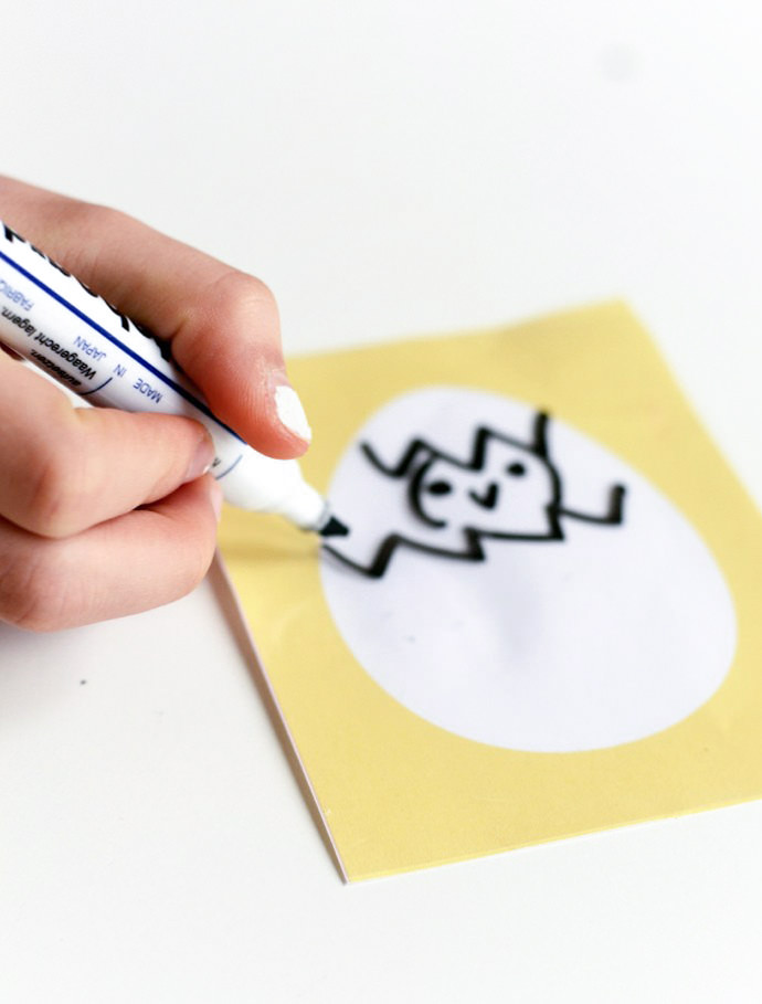 Dry Erase Easter Card Printables