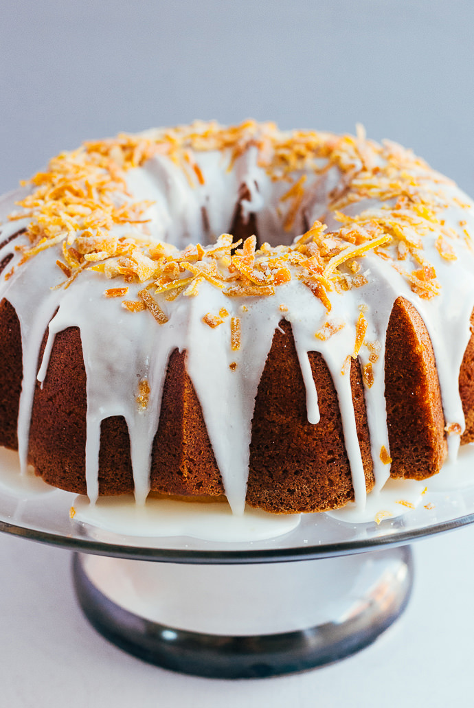 Citrus Pound Cake With Candied Orange Peel Handmade