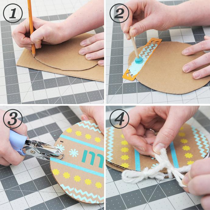 DIY Easter Egg Doodle Book Steps