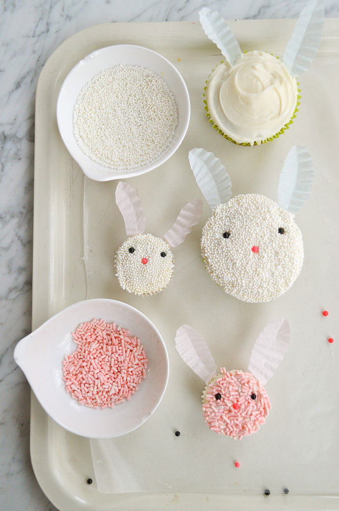 Easy Easter Bunny Cupcakes Recipe & Easter Cupcake Decorating Ideas For Kids ? Handmade Charlotte