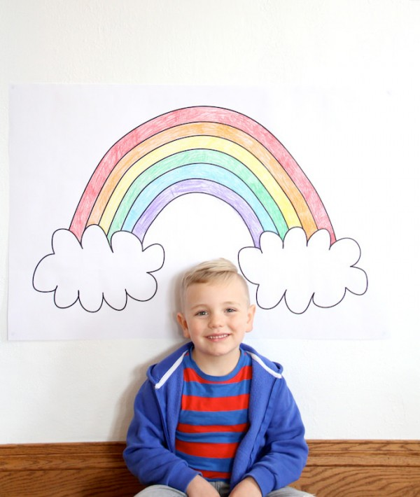 Print And Color Your Own Rainbow Poster