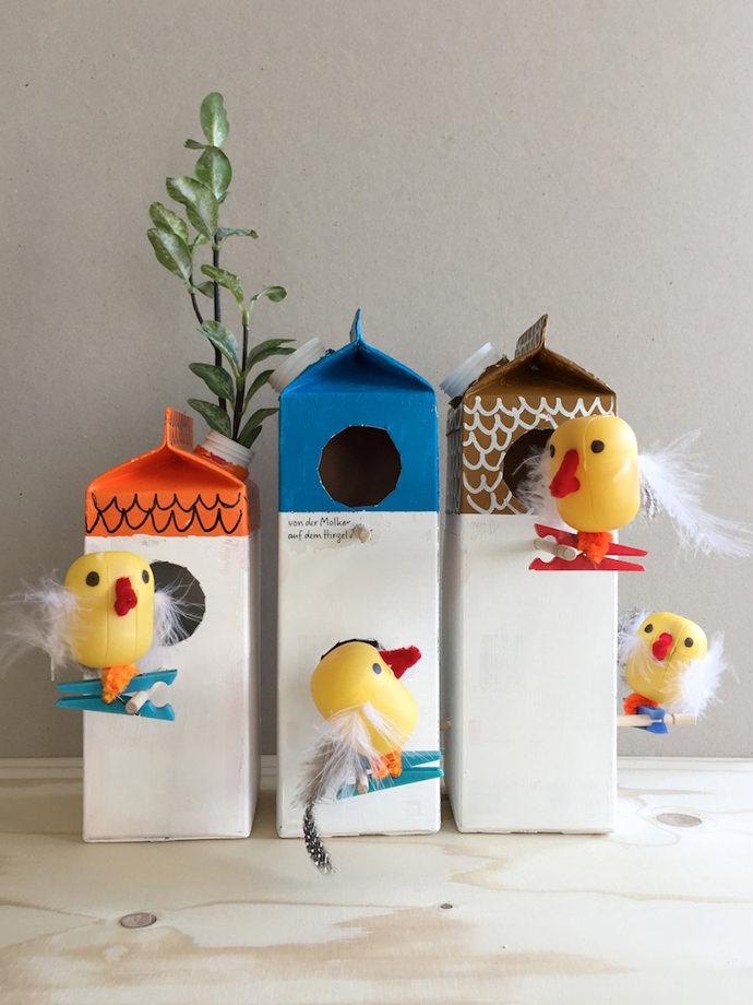 Süt Karton Kuş Evleri