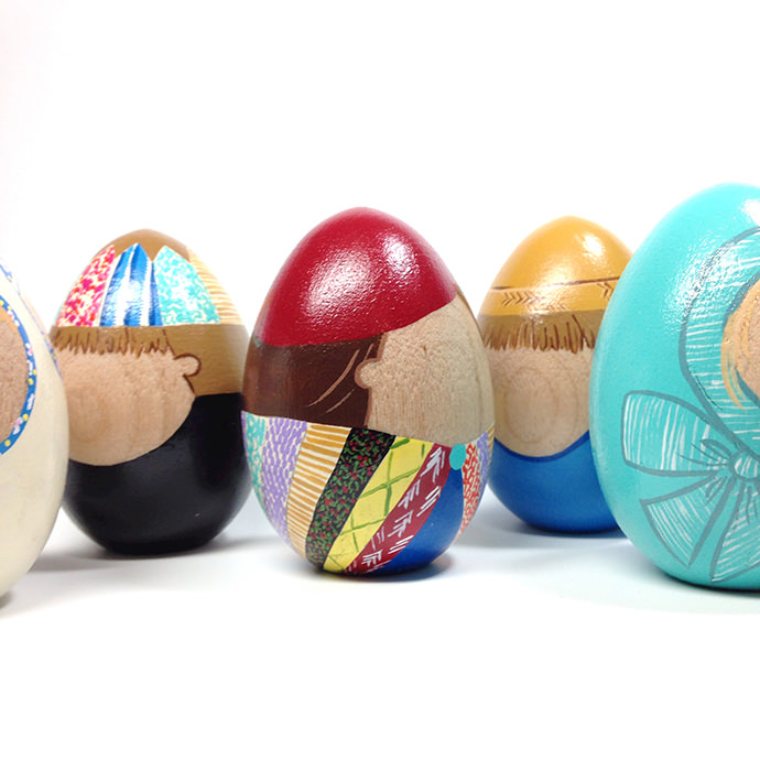 Custom Family Wooden Eggs
