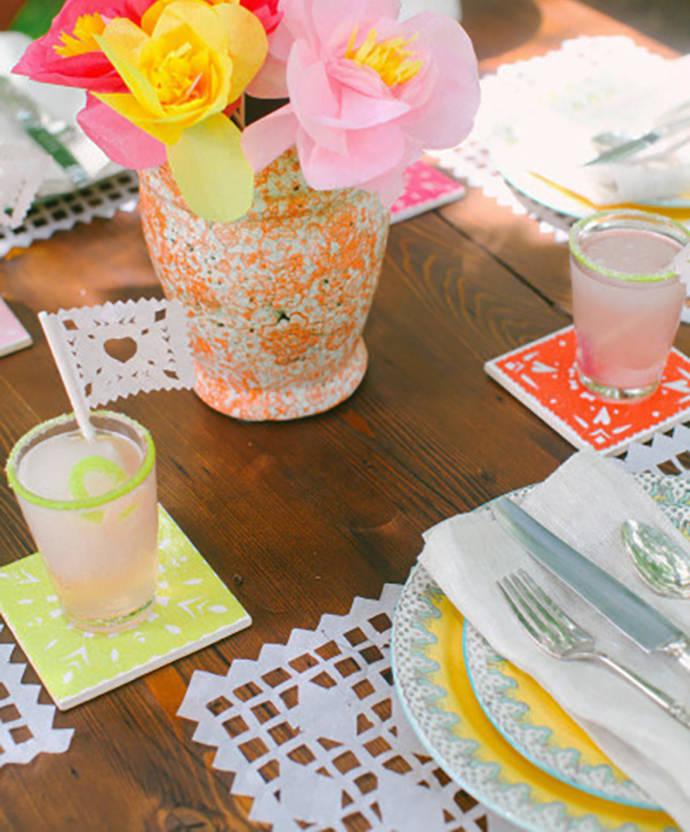 Cut Paper Cinco De Mayo Coasters