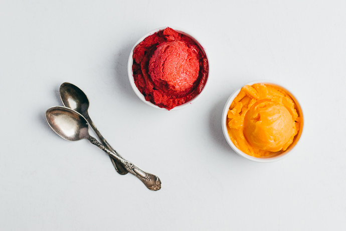 Beet and Carrot Sorbet