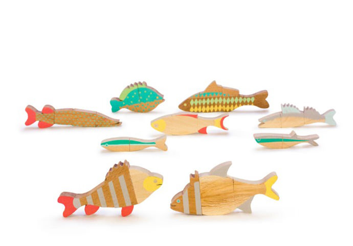 Wooden Magnetic Fish Puzzles