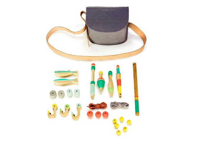 Wooden Toy Fishing Kit