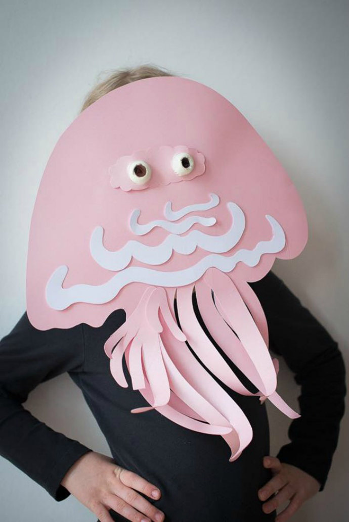 Jellyfish mask paper craft for kids