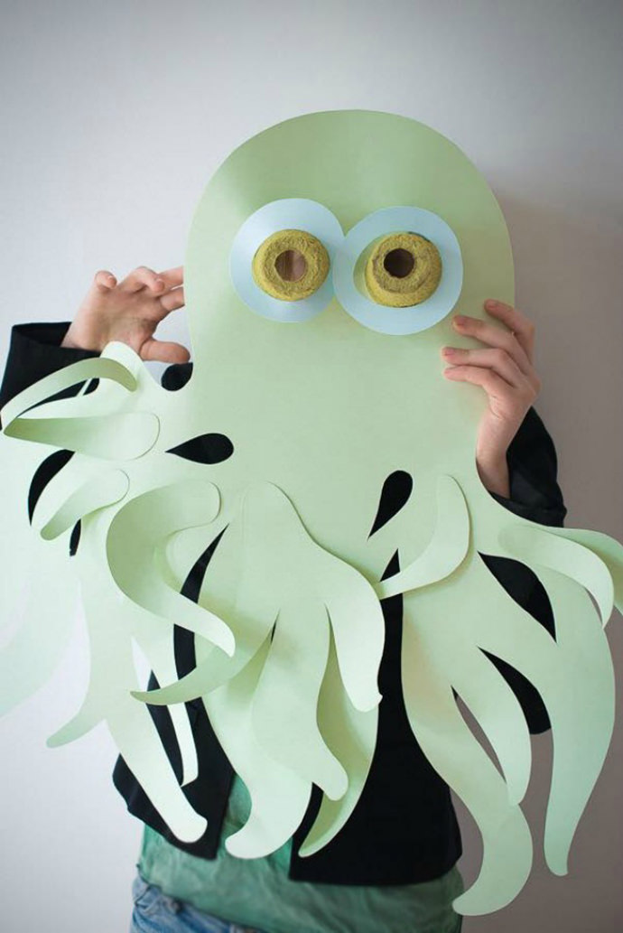 Octupus mask paper craft for kids