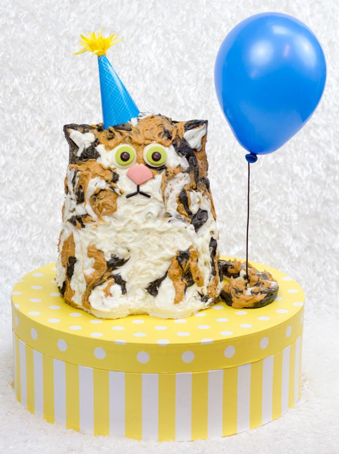 Pleasant The Purrfect Birthday Cake Handmade Charlotte Funny Birthday Cards Online Ioscodamsfinfo