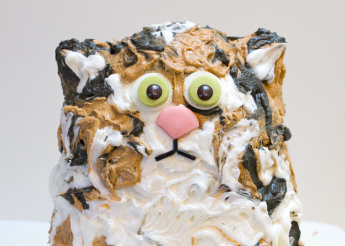 Easy Cat Birthday Cake for Kids