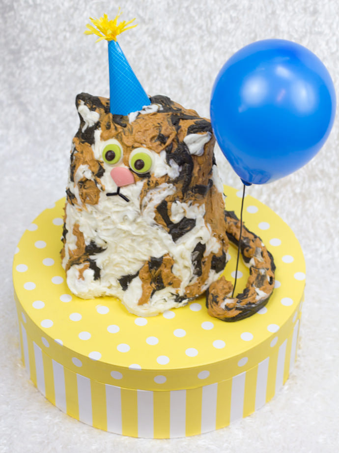 Simple Cat Birthday Cake Image Inspiration of Cake and Birthday
