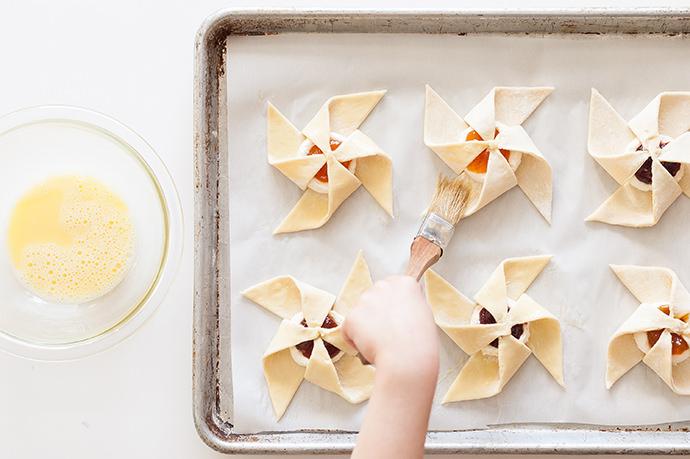 Jam & Cream Cheese Pastry Pinwheels