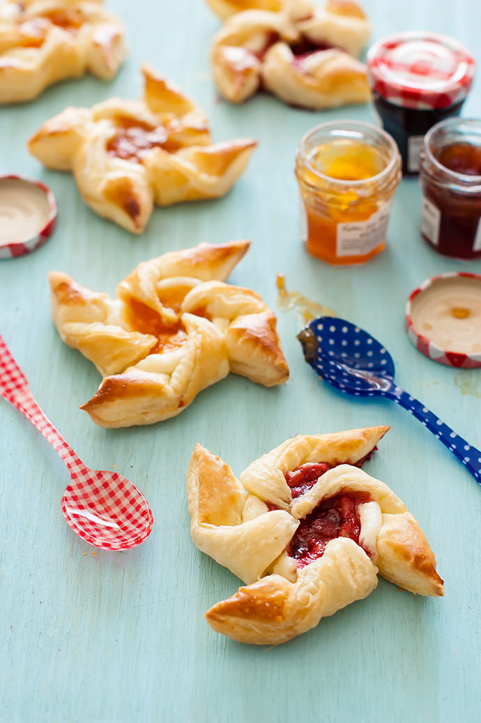 Jam & Cream Cheese Pastry Pinwheels