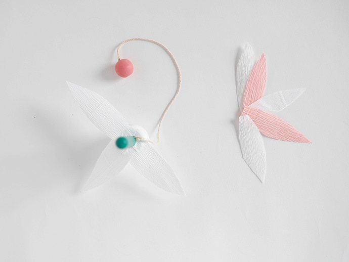 Cut Paper Cup-and-Ball Bouquet