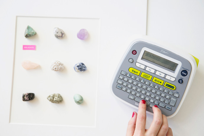 Clutter-free Label Maker Wall Art