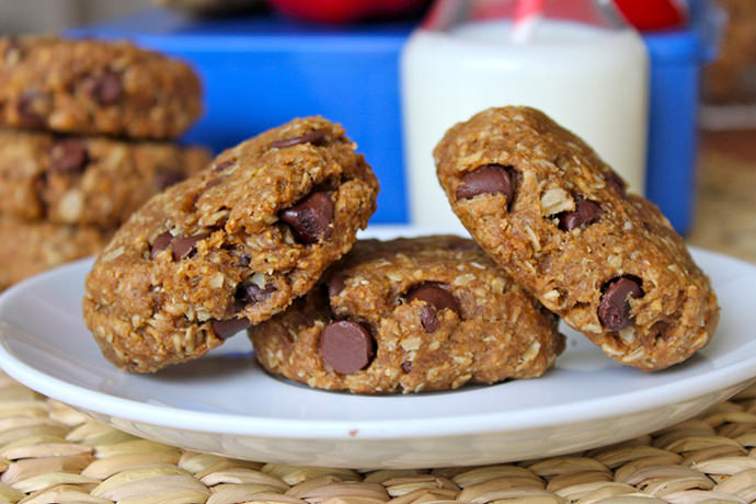 Back-to-School Chocolate Chip Granola Breakfast Cookies