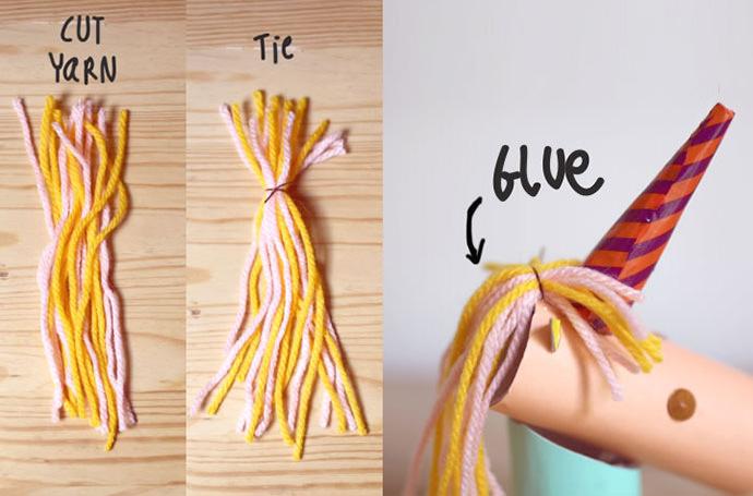 Yarn Hair for DIY Unicorn Ring Holder